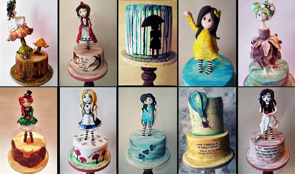 doll cakes sugar models by Time for Tiffin UK