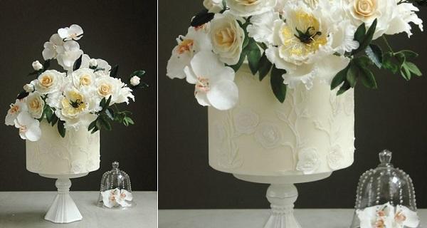 floral lace cake by Jessica Vu of Jessicake Art, Vietnam