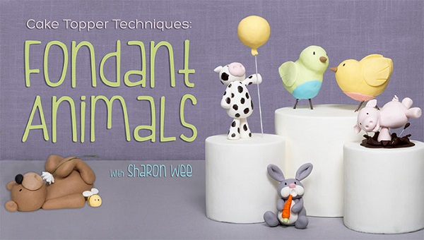 fondant animal cake toppers tutorial by Sharon Wee on Craftsy