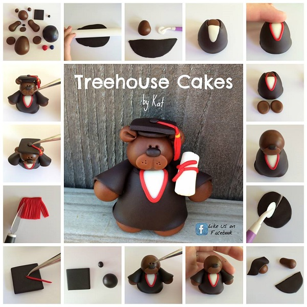 graduation cake topper tutorial by Treehouse Cakes by Kat