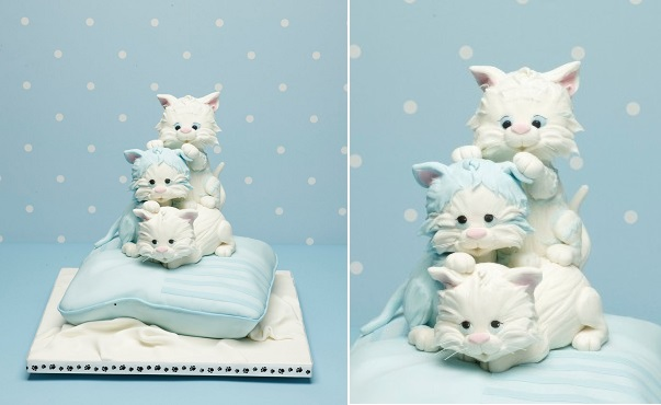 kitten cake by Debbie Brown from Baby Cakes