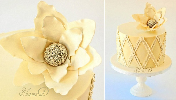 lattice cake design by Tres Chic Cupcake by ShamsD SA