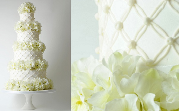 lattice wedding cake design by Bake My Cake, Dublin