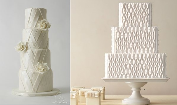 Lattice Wedding Cakes By The Lulu Cake Boutique Left And From Martha Stewart Weddings Right