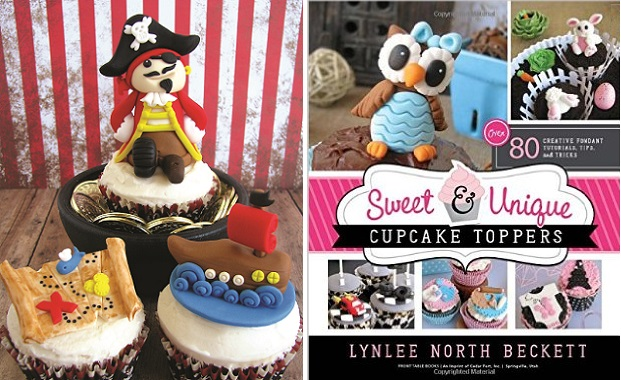 pirate cake topper tutorial from Sweet & Unique Cupcake Toppers by Lynlee North Beckett