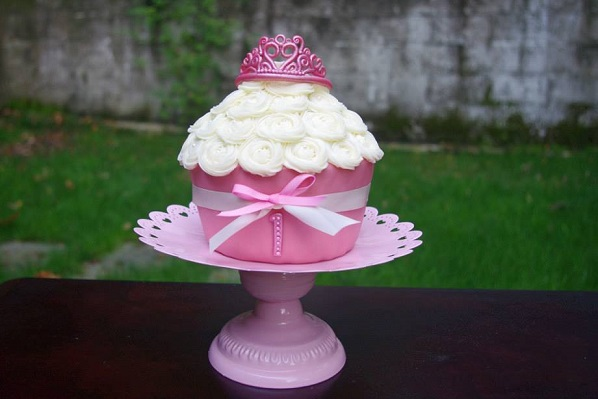 princess cupcake cake by All The Kings Horses Cake Creations