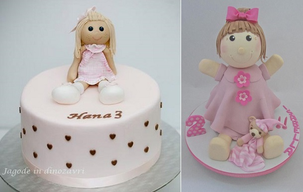 rag doll cakes by Jagode in Dinozavri left, Sweet Surprise Cakes right