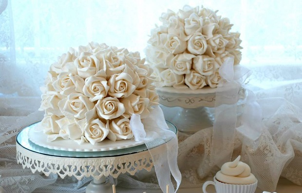 rose dome cakes by Alessandra Frisoni Cake Studio