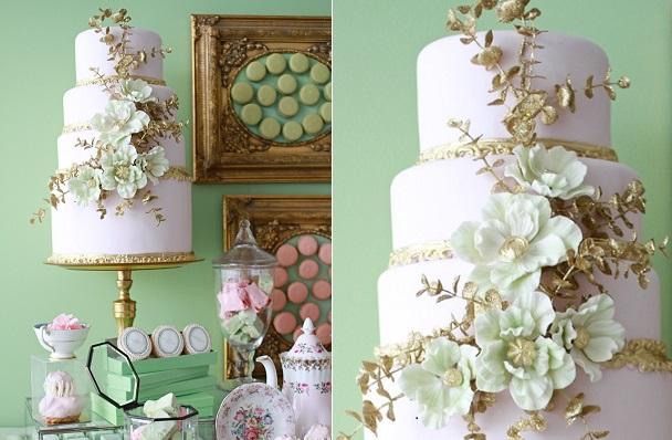 sugar flower arrangement by Bobbette & Belle, Monique Simone Photography