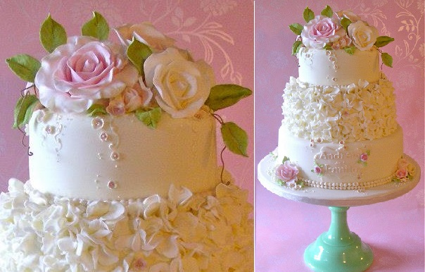 sugar foliage, cake by Nice Icing UK
