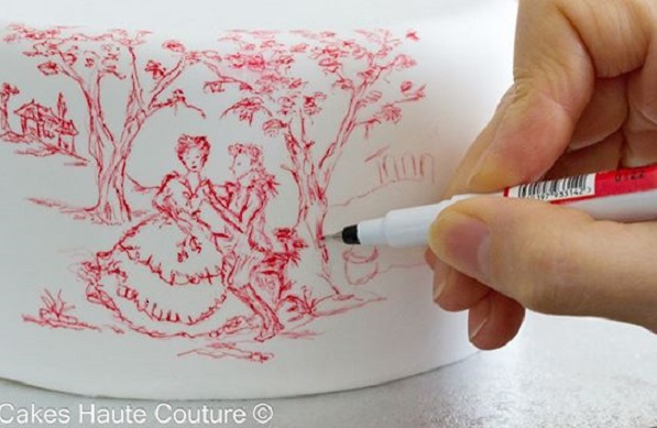 toile cake design by Cakes Haute Couture, Spain