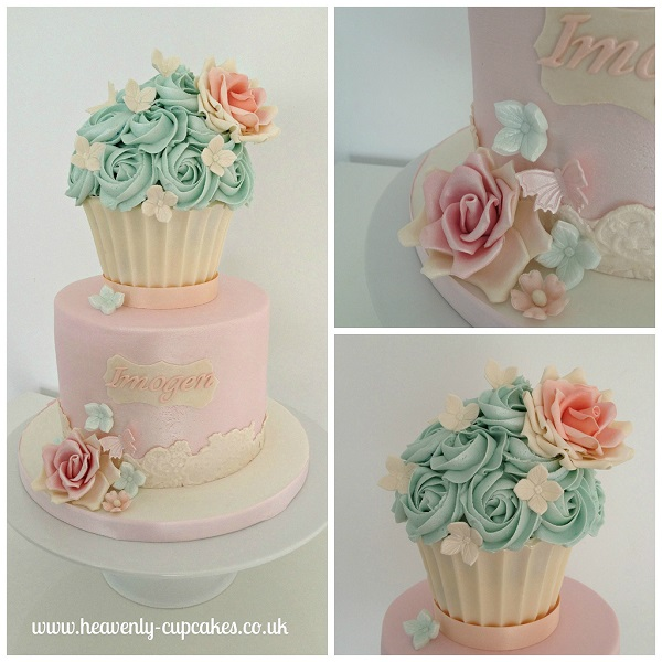 vintage cupcake cake by Heavenly Cupcakes UK