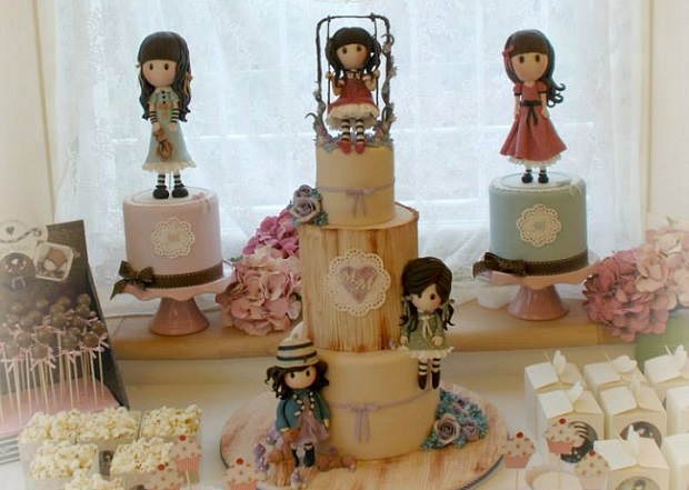vintage doll cakes by Alessandra Frissoni