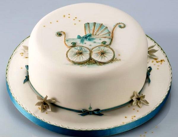 vintage pram cake by Alan Dunn Sugarcraft