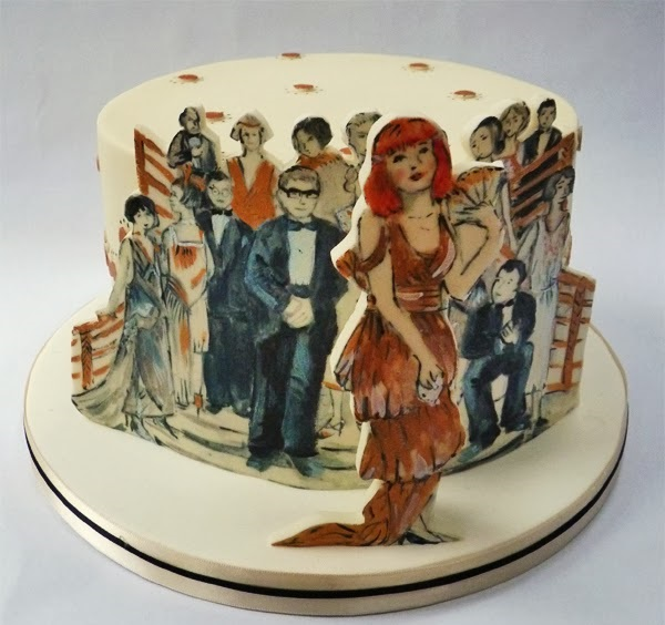1920's fashion cake by Nevie Pie