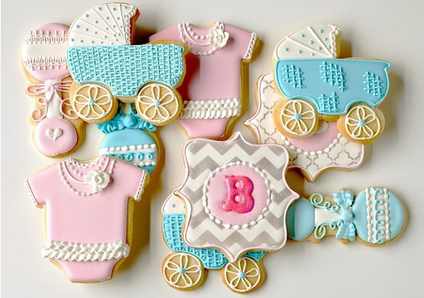 baby shower cookies tutorial with Anne York