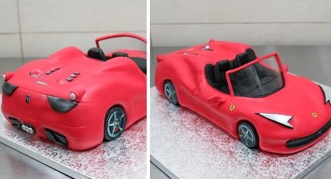 Car Cake Tutorial Ferrari By Cakes Step By Step
