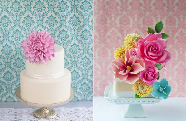 gumpaste dahlias by Luciana Borges of Lulu's Sweet Secrets