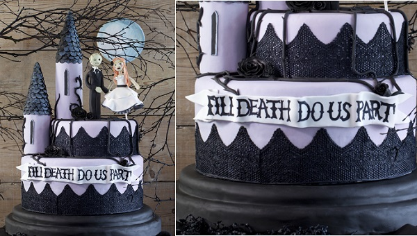 halloween wedding cake by Doric Cake Crafts