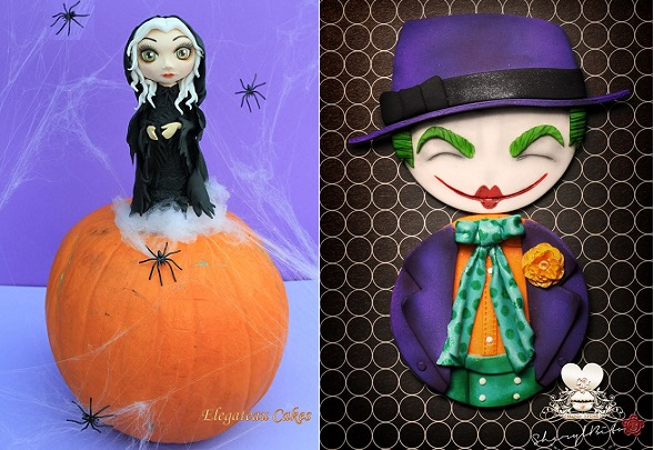 halloween witch model by Elegateau, Joker cupcakes by Sheryl Bito