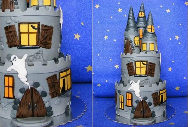 haunted castle halloween cake by Bubolinkata