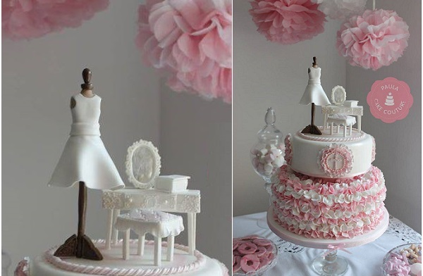 mannequin cake by Paula Cake Couture