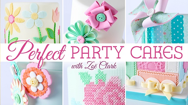 patchwork cake tutorial on Craftsy with Zoe Clark, Perfect Party Cakes