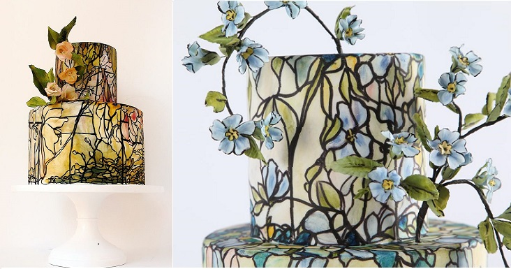 stained glass cake tutorial with Maggie Austin on Craftsy