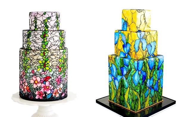 Stained Glass Cake Art