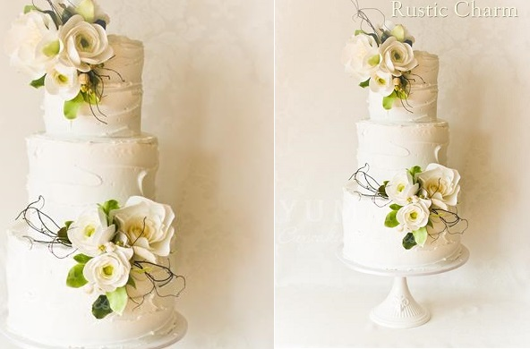 woodland wedding cake spring wedding cake by Yummy Cupcakes and Cakes