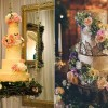 woodland wedding cakes Butter End Cakery left, Sky's The Limit Custom Cakery right
