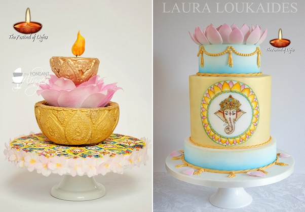 Fondant Flinger, Rachael Skvaril (left) and Laura Loukaides Cakes (right)