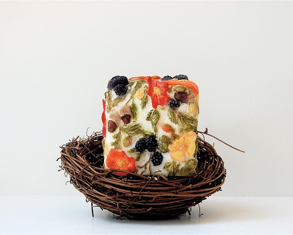 autumn cake cube cake by Maggie Austin
