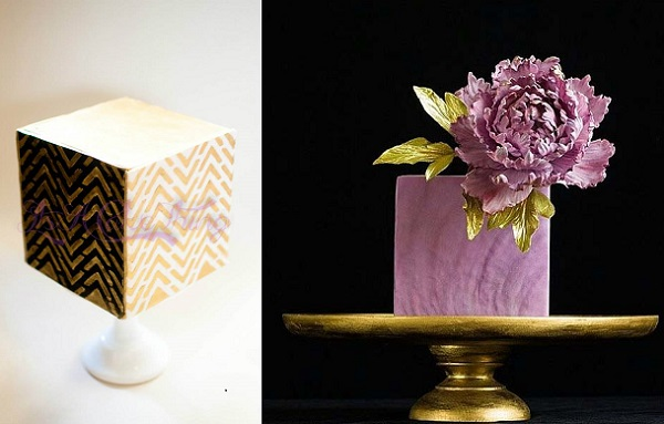 cube cake by It's A Cake Thing by Jhoanee left, Lina Veber Cake right