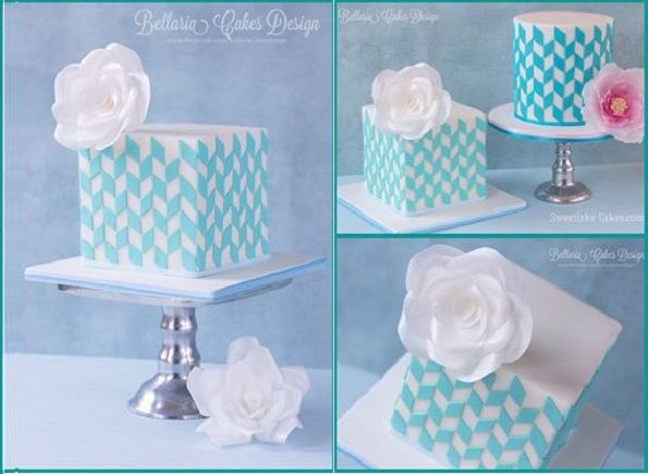 cube cakes by Bellaria Cakes Design