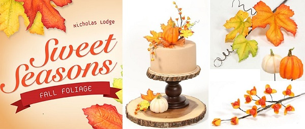 fall foliage, berries and pumkin tutorial by Nicholas Lodge
