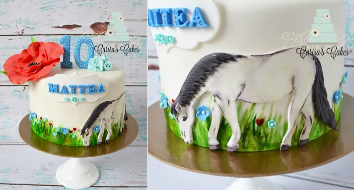 horse cake by Carisa's Cakes
