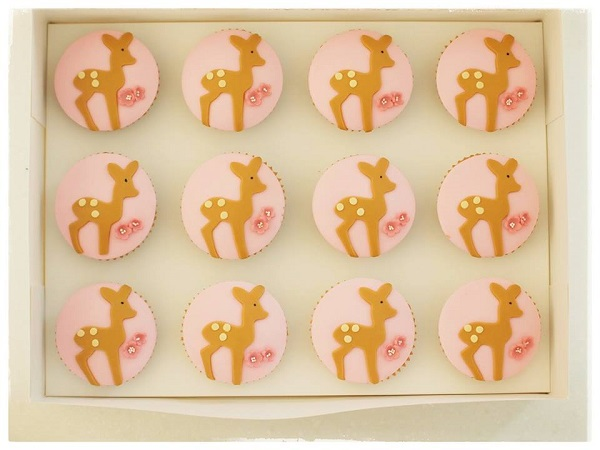 Bambi cupcakes, baby deer cupcakes by Mio Cupcakes