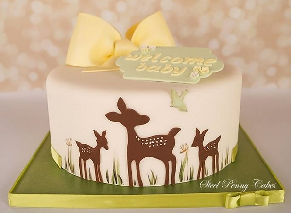 baby deer cake, Bambi cake by Steel Penny Cakes