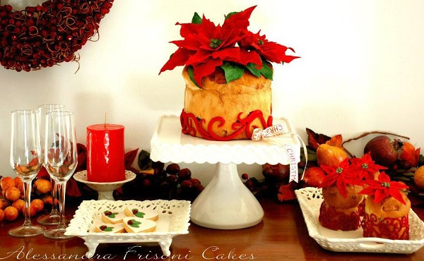italian pannetone cake christmas sweet table by Alessandra Frissoni Cakes