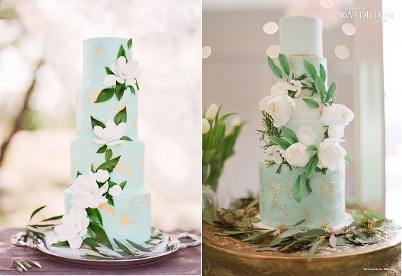 mint wedding cakes