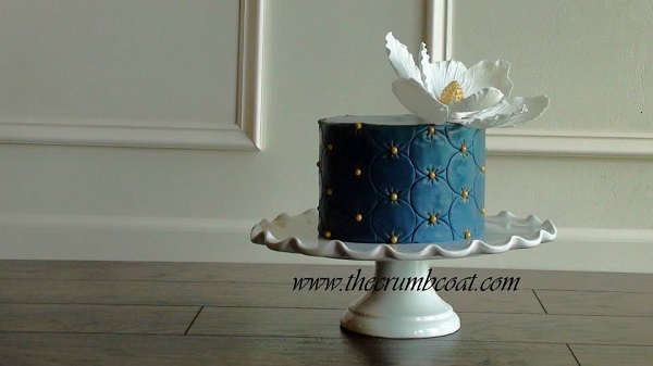 navy cake by The Crumb Coat