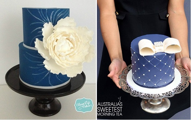 Navy Wedding Cakes Vintage Modern Cake Geek Magazine