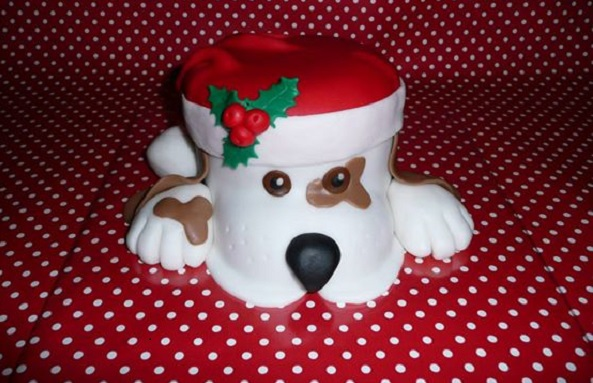 novelty christmas cake by Het Bonte Taartje