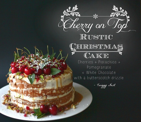 rustic christmas cake from Twiggy Nest blog