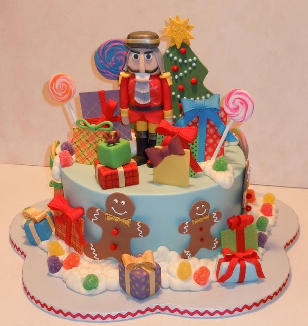 toy soldier christmas cake by Cakes by Melissa, candyland Christmas cake