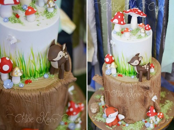woodland baby shower cake by Chloe Kerr Cakes, Effie SEE White Photography