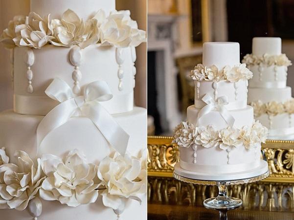 1. white gems wedding cake by Cakes by Krishanthi