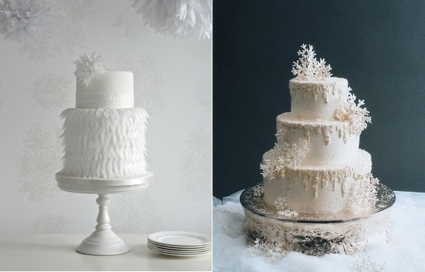 zoe clark left, right IncrEdible Endings, frosted icicles in buttercream via Wedding Wire dot com