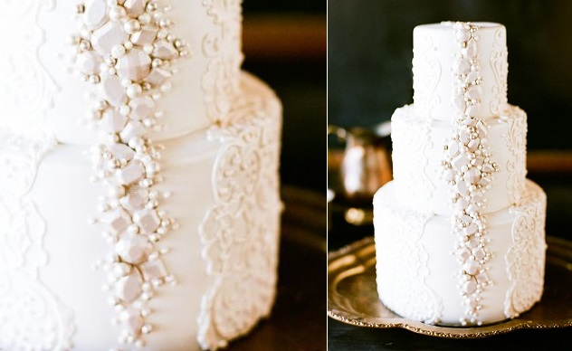white diamonds wedding cake via Inspired by This, image Diamond in the Rough Still Life Photos
